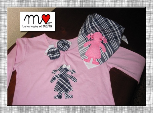 Camiseta Carmen rosa-fallera 1