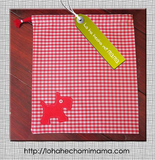 bolsa almuerzo niño roja