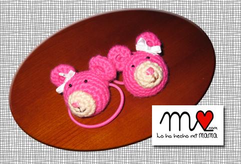 Coleteros ositos rosa