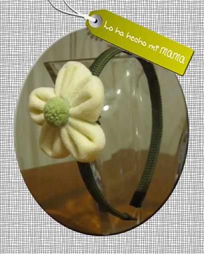diadema flor amarilla_
