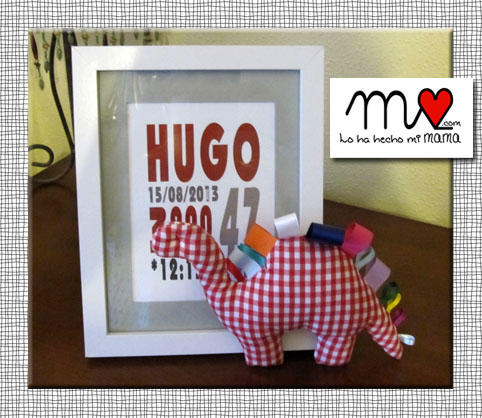 Cuadro y sonajero Hugo