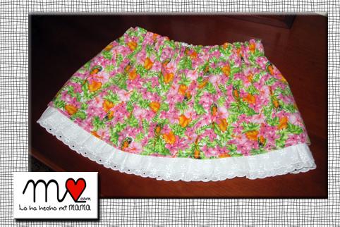 falda rosa facil